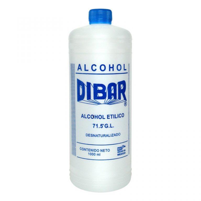 Alcohol etílico desnaturalizado dibar
